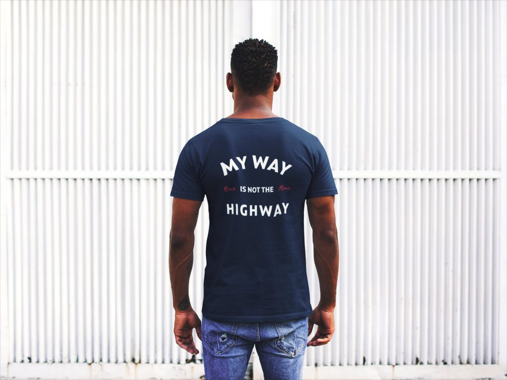 Backroads Enthusiast Apparel - My Way Not the Highway Tee Shirt